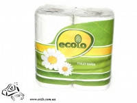Туалетная бумага Ruta Ecolo двухслойная 4шт