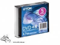 Диск DVD-R TDK 16x 4.7Gb slim