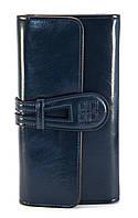 Синий тройной женский кошелек с картхолдером на застежке FUERDANNI art. 1025A, фото 1