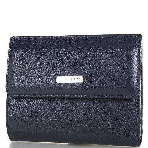Женский черный кожаный кошелек KARYA (КАРИЯ) SHI1065-4FL