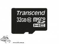 Карта памяти TRANSCEND NAND Flash Micro SDHC 32GB Class 10  Plastic