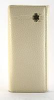 Бежевый недорогой вертикальный женский кошелек на магнитной застежке FUERDANNI art. 6658, фото 1