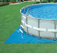 Intex 28322 каркасный бассейн 488х122 (фильтр-насос, лестница, тент, подстилка)