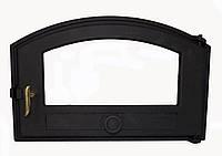 Чугунная каминная дверца (стекляная вставка)  - VVK 50x30 см - 46x26см