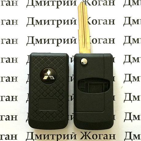 Корпус выкидного авто ключа для MITSUBISHI (Митсубиси)  2 - кнопки, фото 2