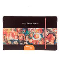 Карандаши цветные FineArt-36TN  36 цветов  Металлическая коробка Кедр