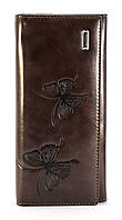 Коричневый вертикальный двойной женский кошелек на магнитной застежке FUERDANNI art. 2398, фото 1