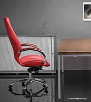 Кресло Formula Steel Chrome Кожа Люкс Красная (Новый Стиль ТМ), фото 3