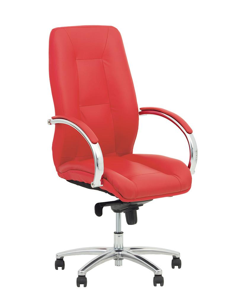 Кресло Formula Steel Chrome Кожа Люкс Красная (Новый Стиль ТМ)