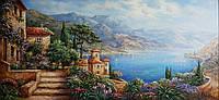 «Средиземноморская лагуна» картина маслом