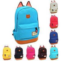 Молодежный школьный рюкзак с ушками, фото 1