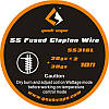 Проволока из нержавеющей стали Fused Clapton Tape Wire SS316 26GA*2 + 30GA (GeekVape) - 3 м