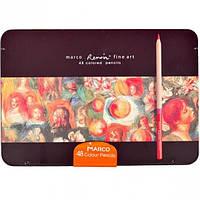 Карандаши цветные FineArt-48TN  48 цветов  Металлическая коробка Кедр
