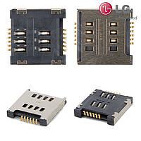 Коннектор SIM-карты для LG D325 Optimus L70 Dual SIM, оригинал