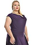 Платье в пол ,чуть спущенный рукав и на плече драпированная кокетка ,модель ДК 652, фото 4
