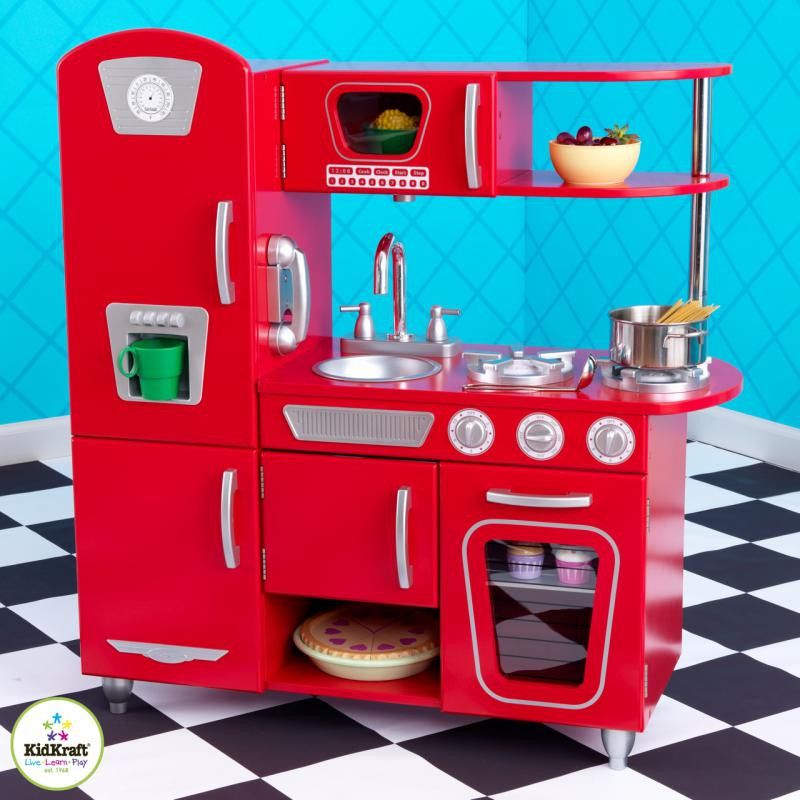 Игровая кухня KidKraft Red Vintage 53173