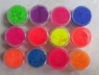 Цветные пигменты для маникюрв, 12 шт/упаковка