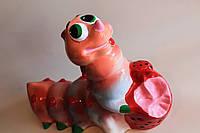 Керамическая садовая фигура Гусеница