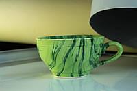 Чашка керамическая Радуга, зеленая