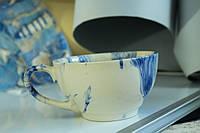 Чашка керамическая Радуга, голубая