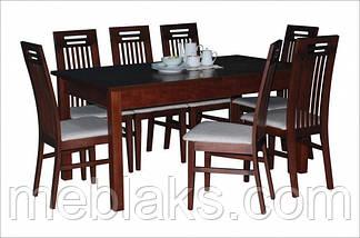 """Стол для гостинной деревянный раскладной """"Модерн"""" 140(+40)х80х75 см Fusion Furniture, фото 2"""