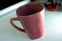 Чашка керамическая квадратная Радуга розовая