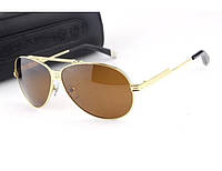 Солнцезащитные очки Chrome Hearts (золотая оправа)