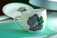 Чашка керамическая  детская Мишка с клевером