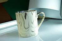 Чашка керамическая офисная Радуга, белая