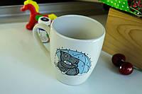 Чашка керамическая Европа, деколь Мишка с зонтом