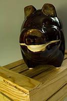 Горшок для запекания Свинка, керамика