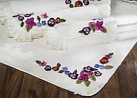 Коврик для ванной комнаты 100% хлопок Violet 40*60 белый.