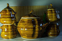 Набор Тополек, супник и 4 горшочка