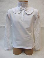 Блуза нарядная с гипюром  6,8,10,12 лет