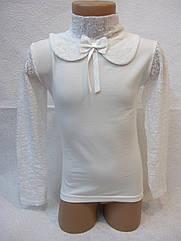 Блуза нарядная с гипюром  6,12 лет
