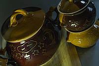 Набор керамический  Солнышко,супник и горшочки