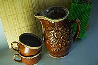 Молочный набор Украина, кувшин с чашками