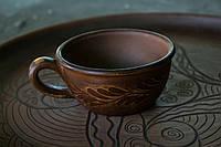 Чашка глиняная, малая плоская