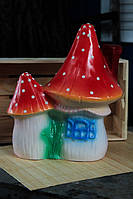 Садовая фигура Гриб домик двойник, керамика