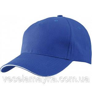 Синяя кепка-сэндвич с белой вставкой