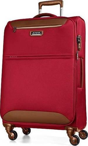Большой 4-колесный тканевый чемодан 104/117 л. March Flybird 2451/31 красный