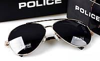 Солнцезащитные очки Police (8585) золотая оправа