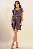 Летнее штапельное платье с цветочным принтои | фиолетовый (р.42-52)