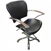 Кресло парикмахерское Lira 6126bl черное/красное/коричневое
