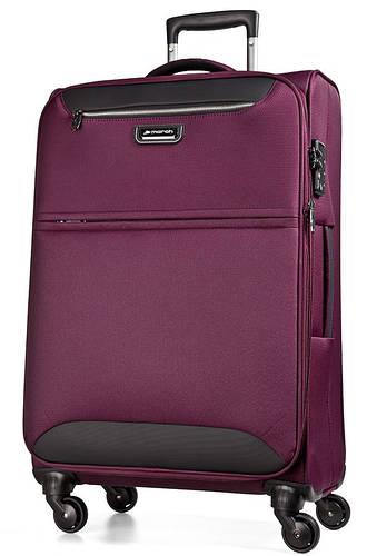 Фиолетовый тканевый 4-колесный чемодан-гигант 104/117 л. March Flybird 2451/22