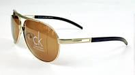 Солнцезащитные очки Calvin Klein (золотая оправа)