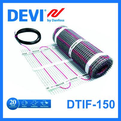 Нагревательный мат DEVI с тефлоновой изоляцией двухжильный 12 м.кв.