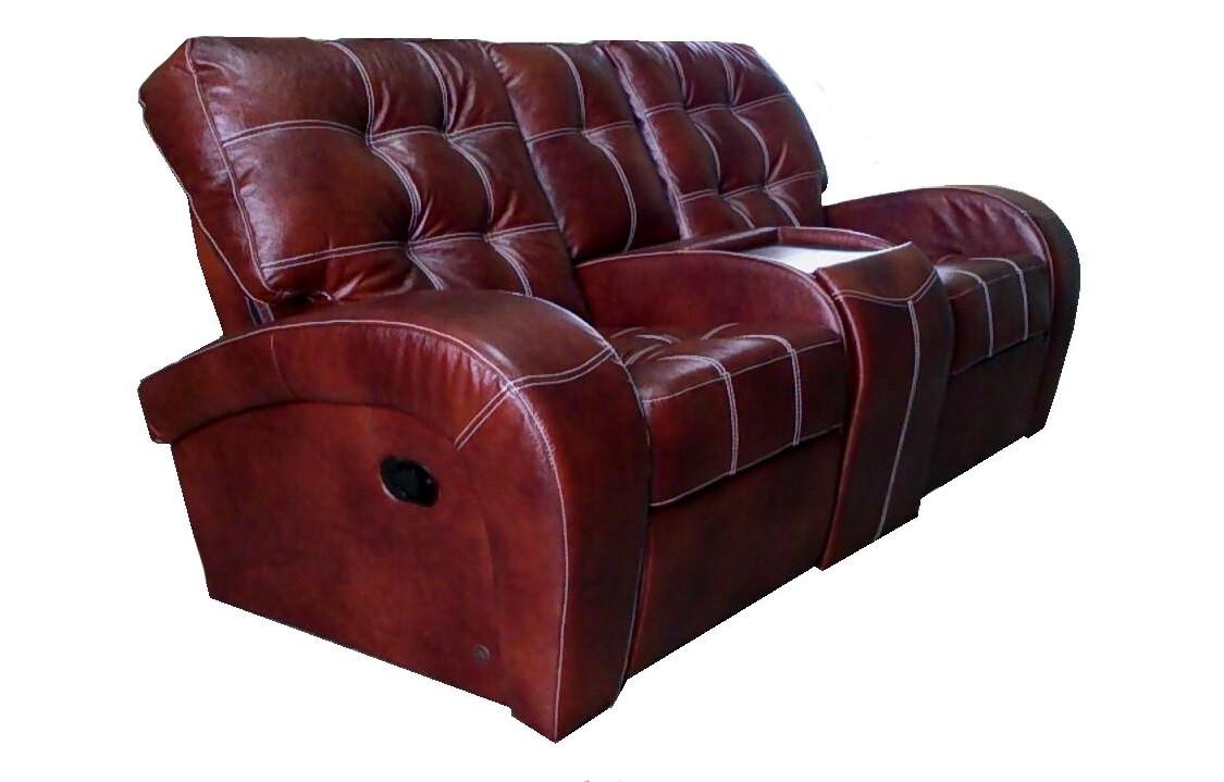 """Кожаный диван с реклайнером """"Vincent"""""""