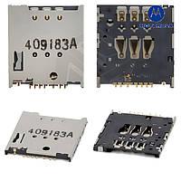 Коннектор SIM-карты для Motorola Moto G XT1033, оригинал