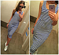 Платье майка морячка длинное